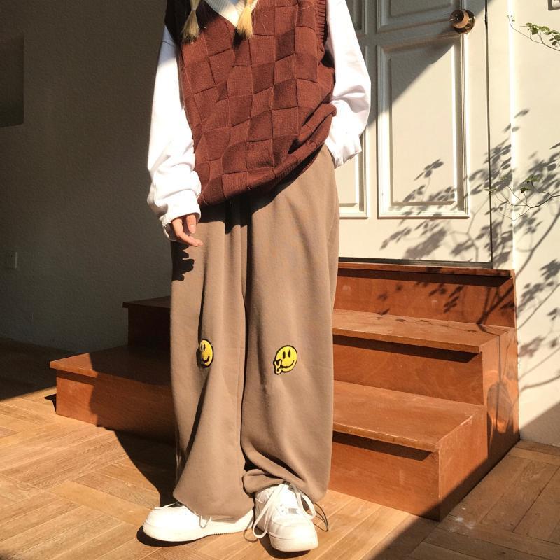 Little Hat Sportswear Women's Instrendy Высокий талию тонкий корсет Свободные повседневные брюки Budypants Весна и осенние брюки