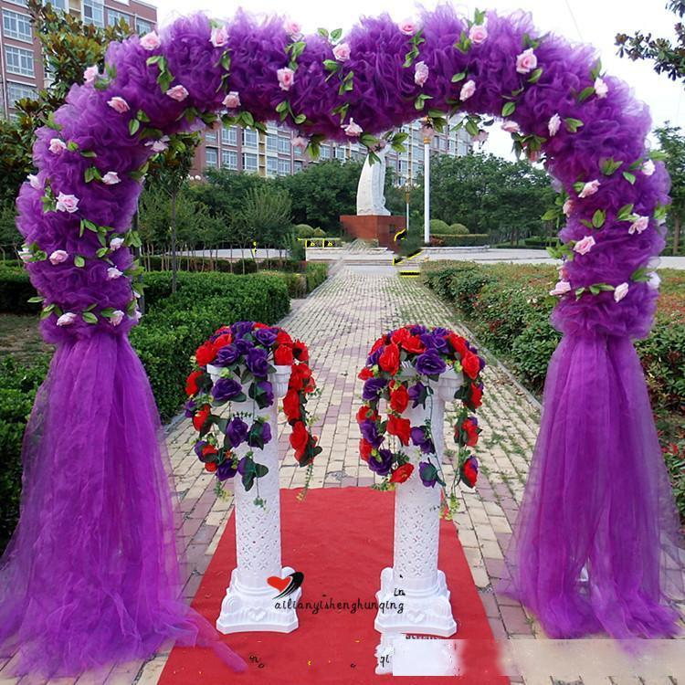 Новое в форме сердца Bridal металла Arch рамки фона Украшение Cherry Blossom арка цветок Стенд поставки двери Свадьба Украшение реквизит