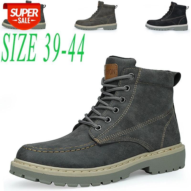 Bottes pour hommes Super chaud Chaussures d'hiver de haute qualité Casual Bottes décontractées sans glissement Sneakers à lacets de Homme Haut Haut Haute Outillage # PV6G