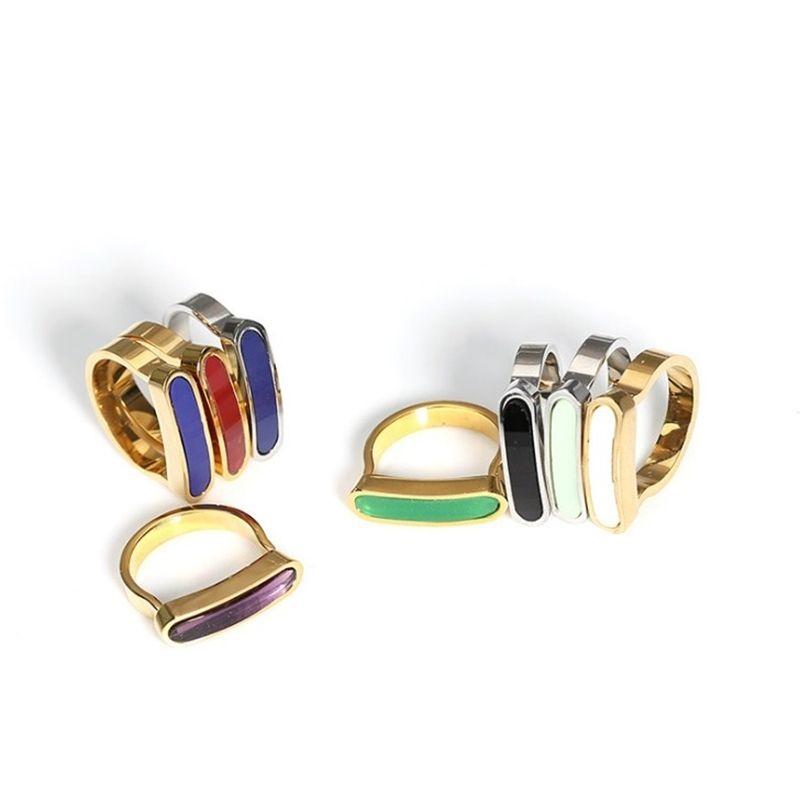 2020 Новый дизайн цинкового сплава Мода цветные кольца для женщин