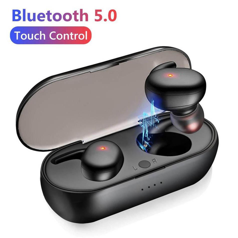 Y30 TWS Fones de ouvido Bluetooth 5.0 sem fio na orelha Redução de ruído 3D Stereo Touch Control Sport Fardbuds para Android Ios Cell Phone