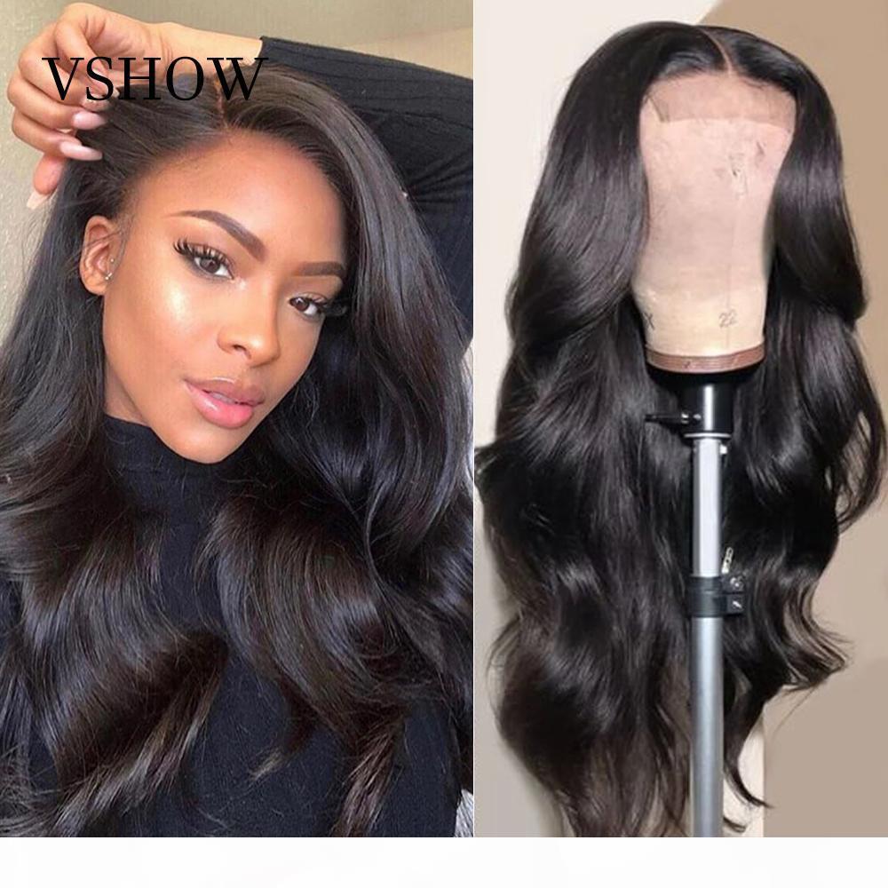 Perruques de cheveux en dentelle pleine dentelle de la dentelle de corps de la dentelle brésilienne perruques de cheveux humains pour femmes black femmes hd dentelle perruque frontale prépuissée vshow cheveux