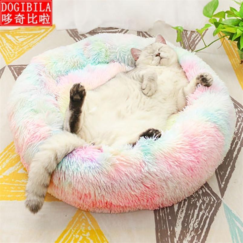 Лонг-плюшевая домашняя кровать для собак Cat 100% хлопок бесшовные 201223