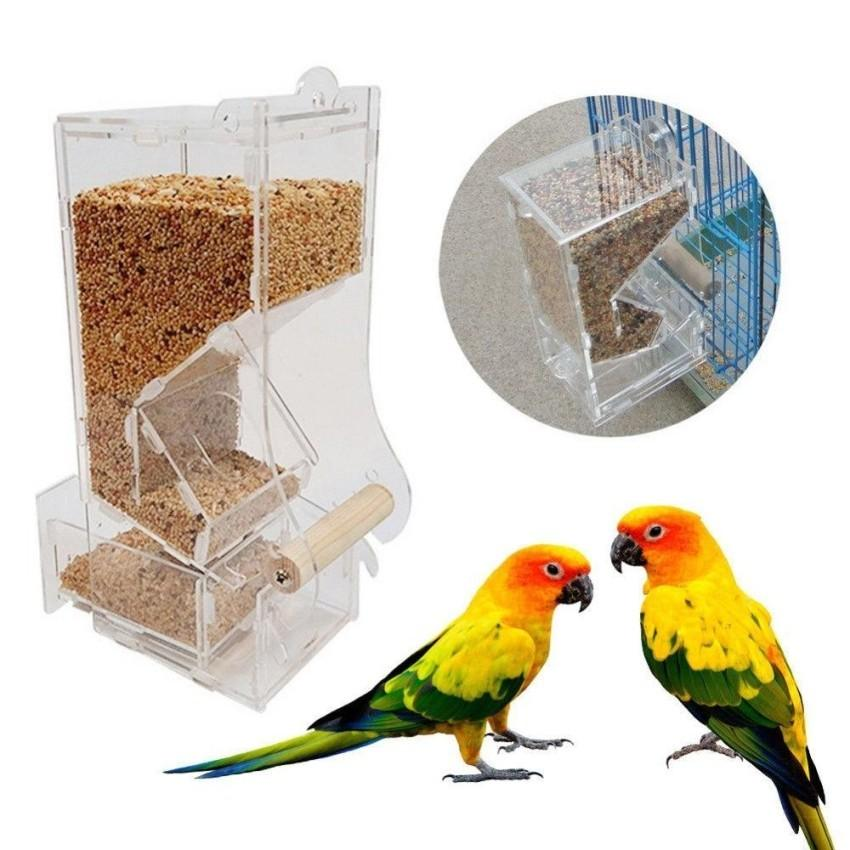 Water Feed Lovebird Canary Aviary Transparent Window Outdoor Bird Feeder Birds Feeding Container for Food Pet Supplies