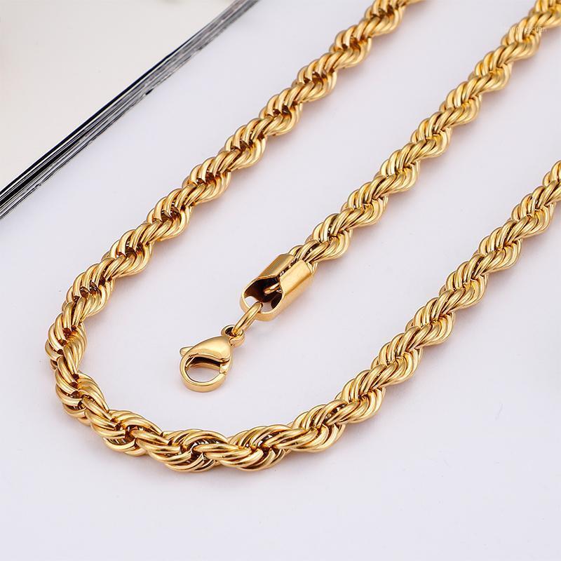 6mm / 8mm oro a due colori in acciaio inox in acciaio inox twish catena catena di moda collana da 24 pollici donne gioielli da uomo11
