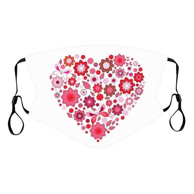 디자이너 마스크 발렌타인 데이 선물 얼굴 마스크 성인 커플 해피 발렌타인 데이 방진 인쇄 레드 러브 조정 가능한 입 마스크 HHE4169