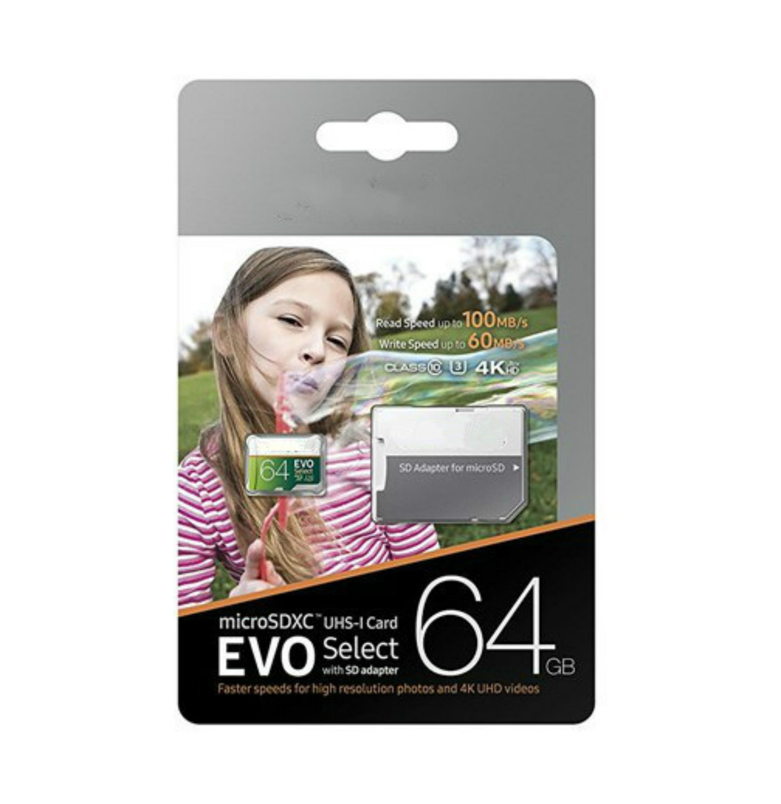 32GB / 64GB / 128GB / 256GB Samsung Evo Выбрать карту Micro SD / смартфон Карту для хранения / карта автомобиля TF Card / Камельная карта памяти 100 МБ / с
