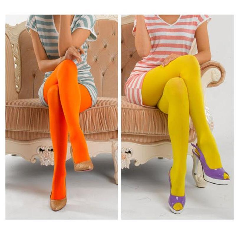 Women Velvet Stockings Clothing Fashion Trend Candy Colors Pantyhose Socks Female New Colors Leggings Anti-hook Silk Stockings