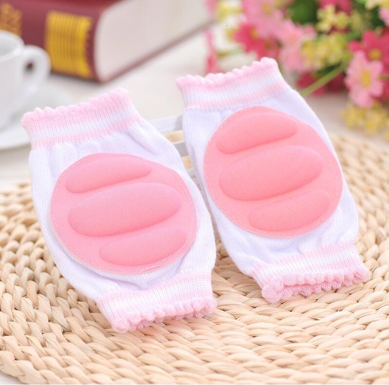 Knepad confortable coton respirant bébé éponge d'éponge enfants Pads à genouillères apprennent à marcher Meilleure protection Crawling Leggings Pad 5x6C
