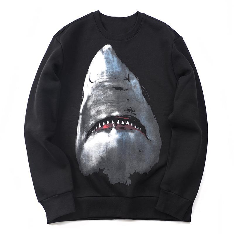 New Men Women Animal Pattern Print Hoodies Mens Shark Hoodie Street Hip Hop Cotton High Quality Loose Fit Womens Hoodie Sweatshirt