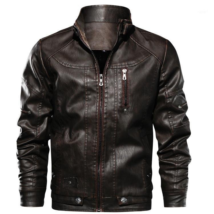 2020 Mens Leather Jackets Drop shippingHigh Quality Motorcycle Jacket Male Plus faux leather jacket men 2020 spring men clothes1