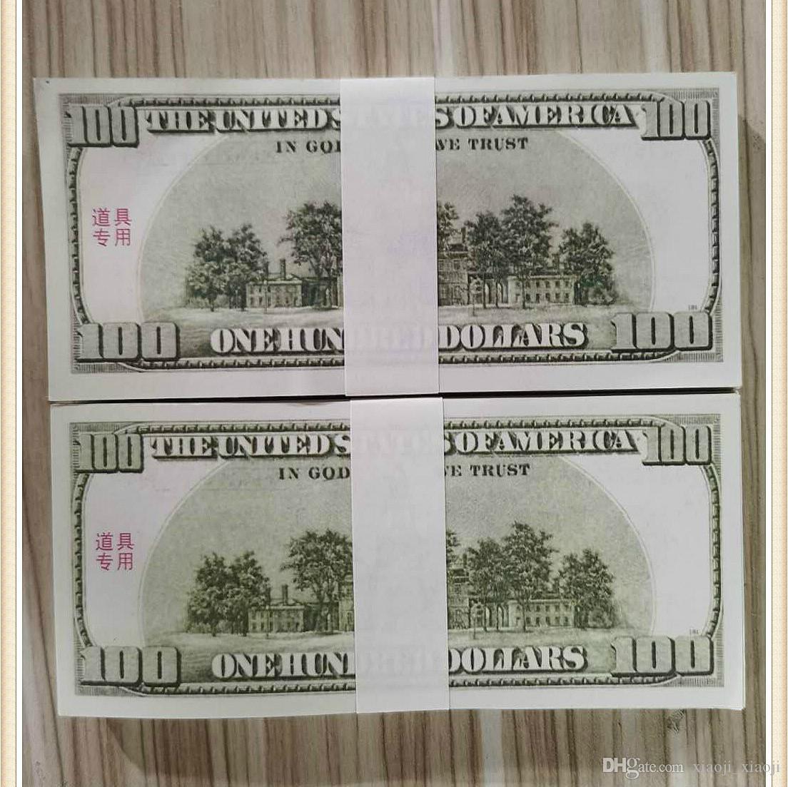Faire semblant des accessoires de jouets Film Billette Fake Money Movie Dollar Stade Bar Papier Dollar Monnaie Money Money's accessoires jeu 01 Ohplf