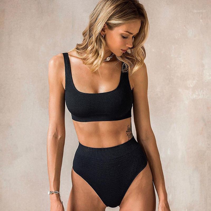 Kadın mayo yüksek belli bikini push up iki parça mayo kadınlar için yaz kızlar banyo takım elbise biquini maillot de bain1
