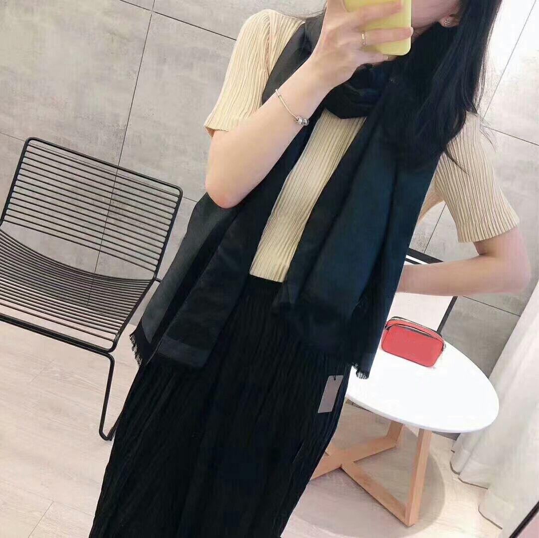 Новые дизайнерские женские шарф шелковый шарф моды мужские и женщины 4 сезона шал шарф 180x70CM6 цвета