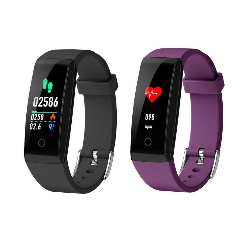 W8 OTA Automatische Herzfrequenzmonitor Smart Armband Pedometer Tracker Smart Watch Color Screen Smart Armbanduhr für iPhone Android Phone