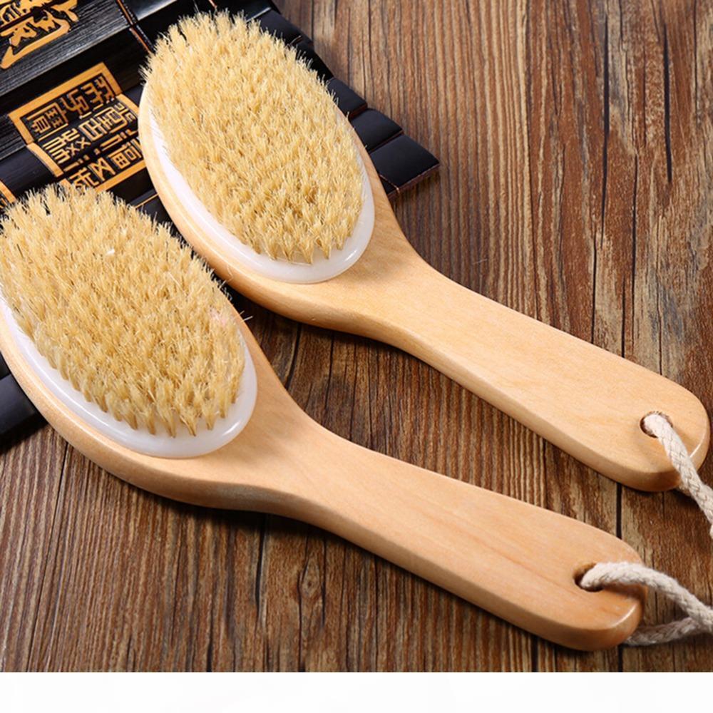 Sèche peau exfoliation brosse corporelle poitrine naturelle brosse en bois brosse masseur baignoire douche dos spa laveur
