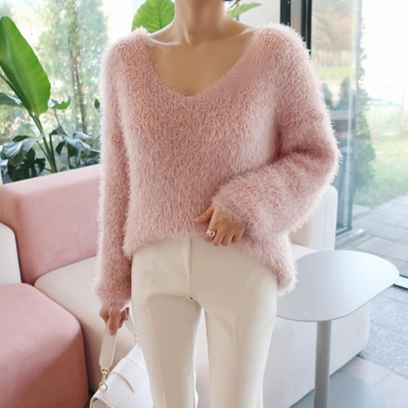 2021 New Legogo Autumn Female Blouses Fashion Minimalist Tops Style Knitting Ladies Sw9160 SCY3