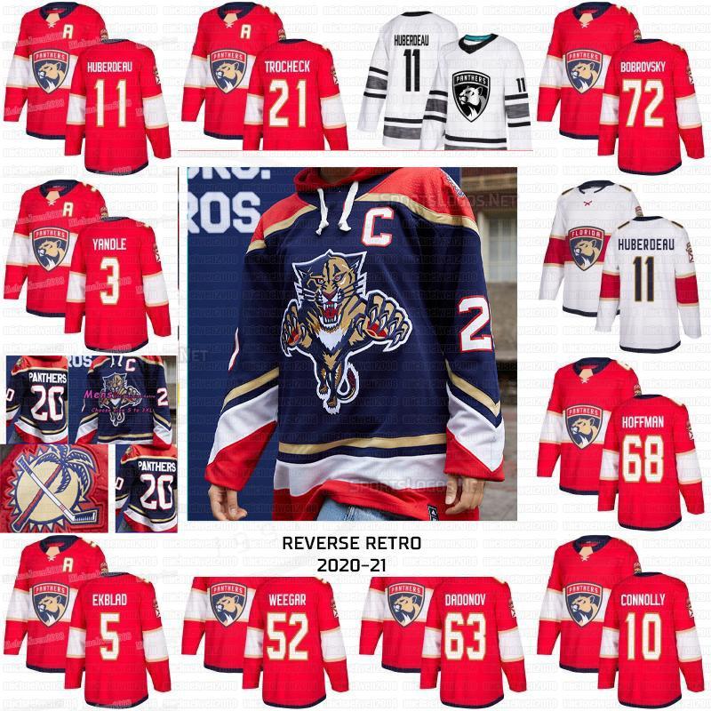 Erik Haula Jonathan Huberdeau Florida Panthers 2021 Reverse Retro Sergei Bobrovsky Aleksander Barkov Dadonov Yandle Hoffman Vatrano Jerseys