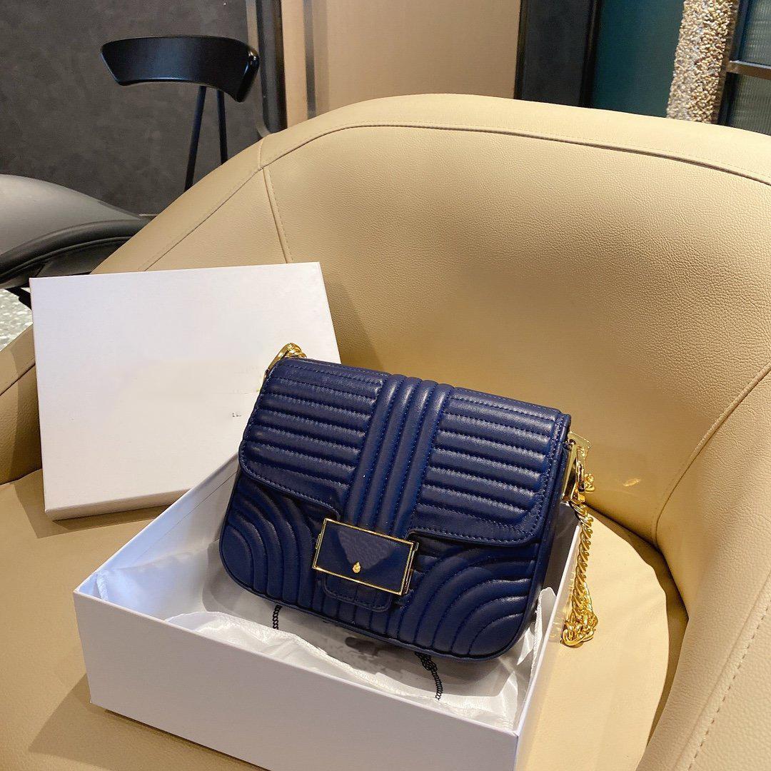 20FW Neue Top Umhängetasche Designer Textur Diagonale Tasche Mode Collocation Litschi Muster Schulter Handtasche 6 Farben WF2012014