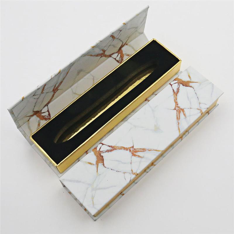 Marble Pattern Adhesive Eyeliner Box Diamond Magic Self Adhesive Liquid Lash Gule Pen Package Case 10Color HHA3439