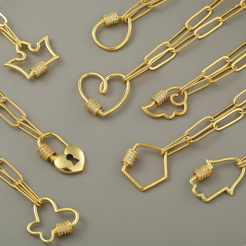 Ожерелья подвеска Современная новинка цепь связанное деблярное ожерелье крошечный T-бар О воротник для женщин-девочки медный Zircon DIY ювелирные изделия