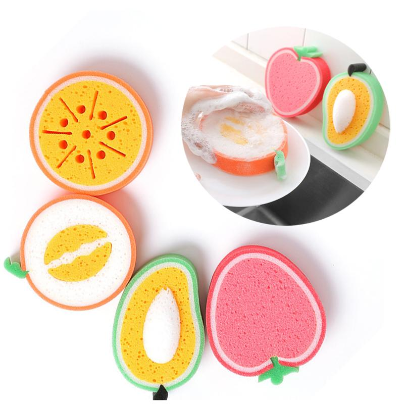 El engrosamiento de la fruta esponja para limpiar paño de microfibra paño del plato de tela al por mayor de descontaminación del plato fuerte Toallas libre de DHL