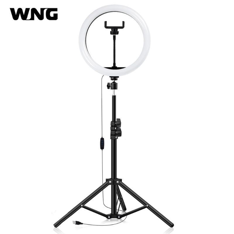 """12 """"LED Selfie Yüzük Işık 50 cm Aydınlatma Standı Ile Tripod Halka Lambası LED Fotoğraf Aydınlatma YouTube Makyaj Video Canlı"""