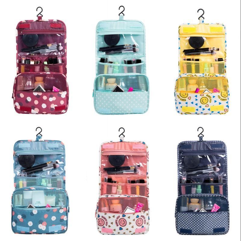 Крюк мультиэтажные косметические сумки DIY квадратная Magic Stick Makeup сумка 24 * 10 * 19см открытый мешок для хранения цветок печать 6 8YF G2
