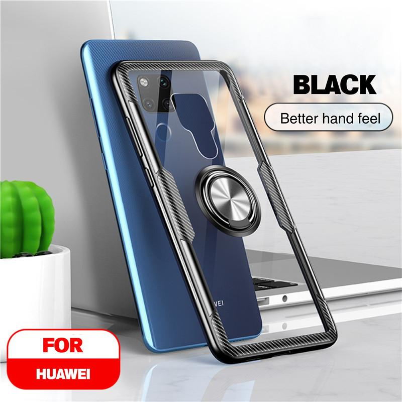 Vothoon Magnetic Ring Silicon Phone Case For Huawei Mate 30 20 Pro 20X Mate 20 Lite P40 Pro P30 P20 Lite Back Case Cover