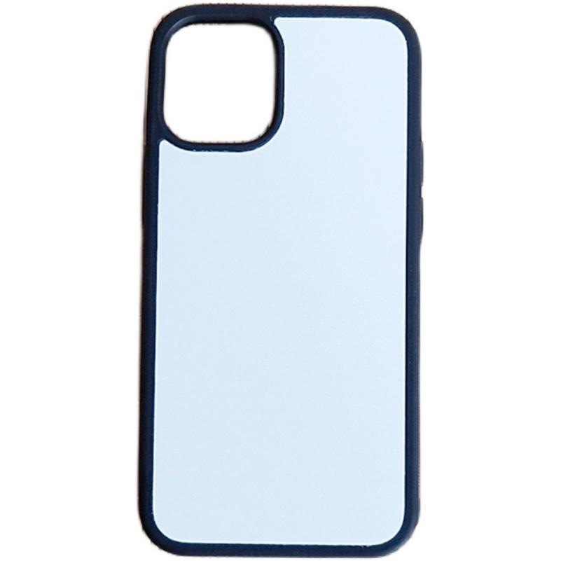 Blank 2D Sublimation TPU + PC Custodie morbide per iPhone 13 12 Mini 11 Pro Max Samsung S21 S21ULtra S21Plus con inserti in alluminio