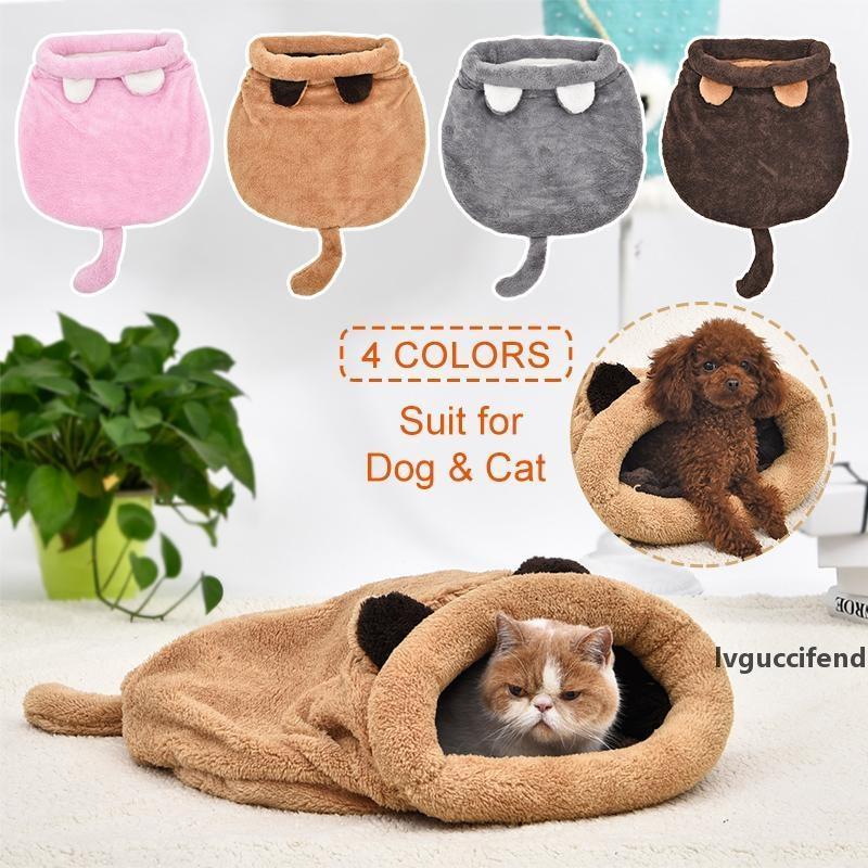 Cama Cat Cad quatro cores Saco de dormir Quente confortável filhote de cachorro inverno ninho almofada tapete fofo adequado para pequeno médio pet t200101