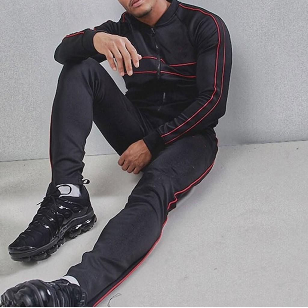 Mens Sportswear Set Winter Herren europäischen und amerikanischen Art Solid Color Zipper Cardigan Hoodiesklage Ropa Hombre #sh