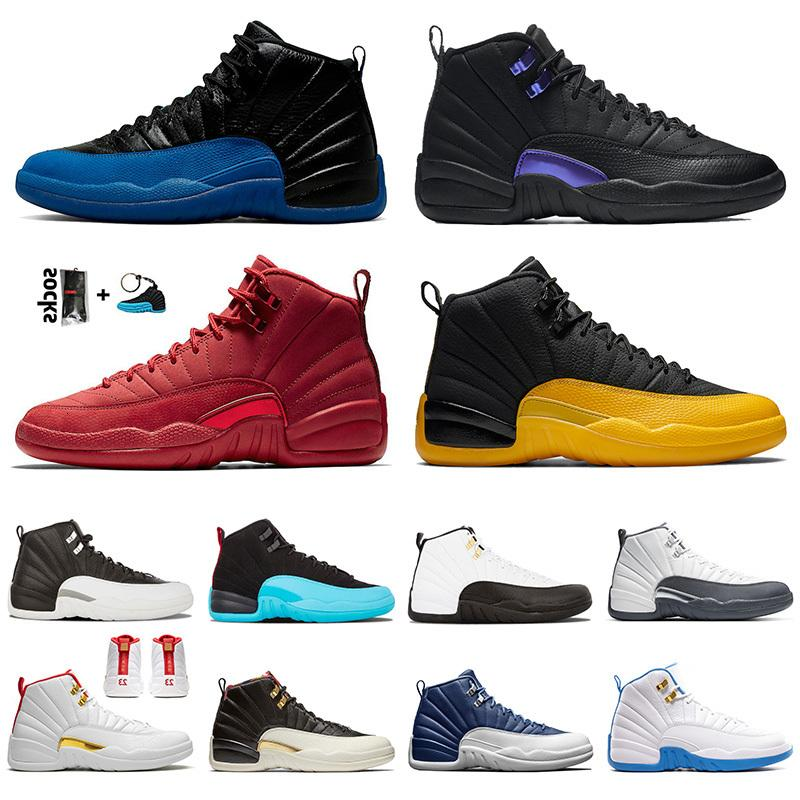 Retro Men Outdoor Shoes 12 12s Top Sale Dark Concor Gym Red Game Royal Black University Gold Sport JUMPMAN Trainers Sneakers SIZE 7-13