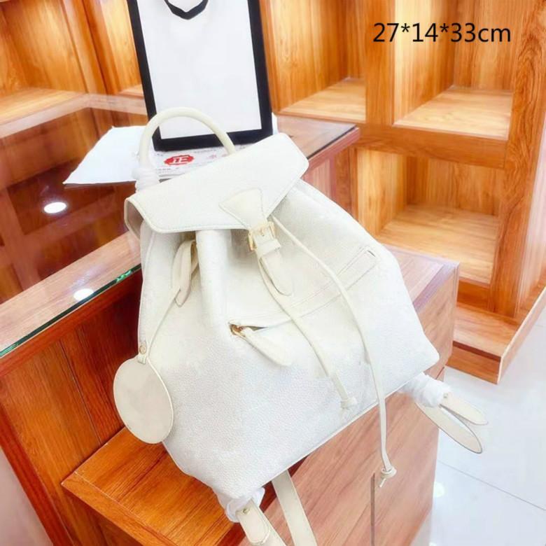 النساء مصمم الأزياء حقائب الظهر الحقائب المدرسية حقيبة الكتف الكلاسيكية تنقش الزهور المحافظ حقائب اليد L21011102