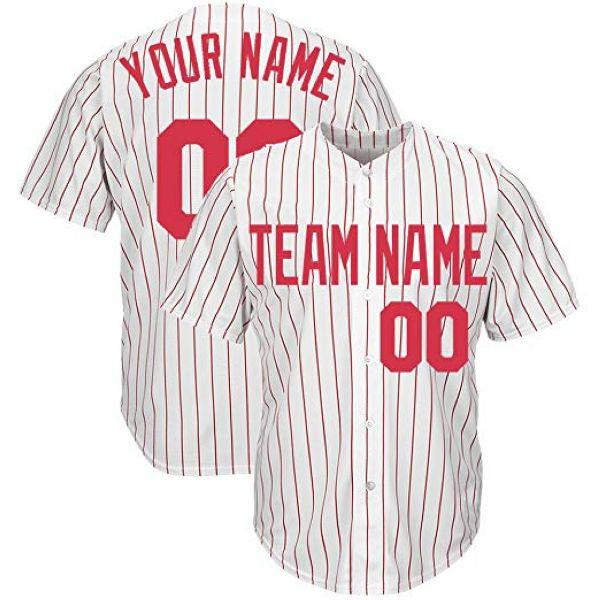 Custom White Philadelphia Estilo Baseball Stitched Jersey Qualquer Nome Nome Mens Mulheres Juventude Jersey Personality Jersey