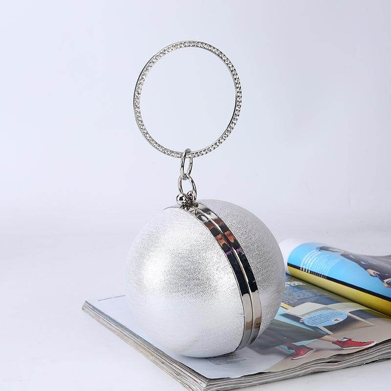 Сферический ужин сумка простая личность круглый шарик вечерняя сумка дамы PU вечеринки макияж сцепление