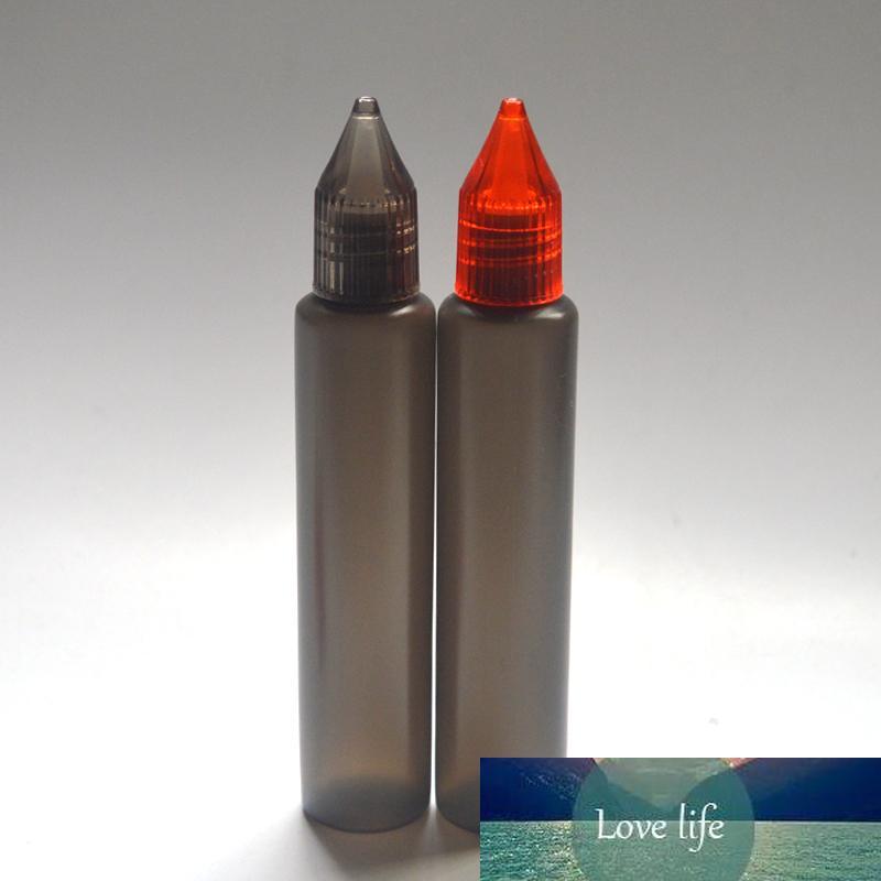 30ml noir bouteille de bouteilles en plastique coloré avec Dropper Cap et Long neddle Style Pen E Vider liquide Bouteilles 50pcs / lot