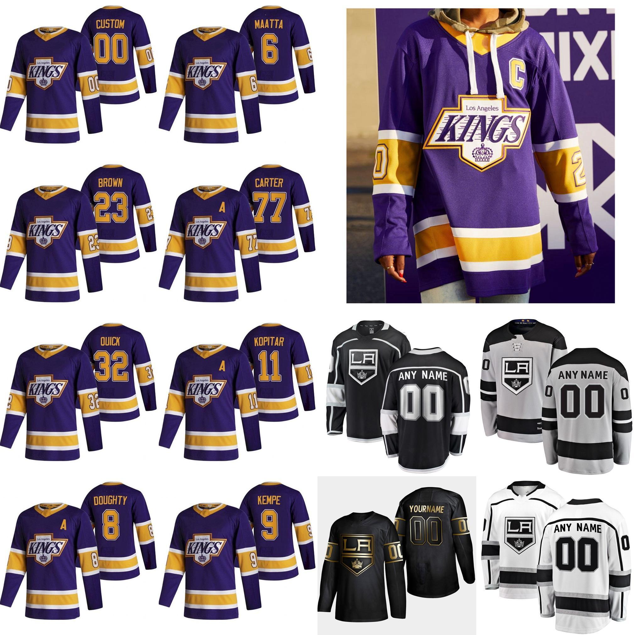 Los Angeles Kings 2021 Reverse Retro Hockey-Trikots Kurtis Macdermid Jersey Matt Roy Joakim Ryan Sean Walker Jack Campbell Custom genäht