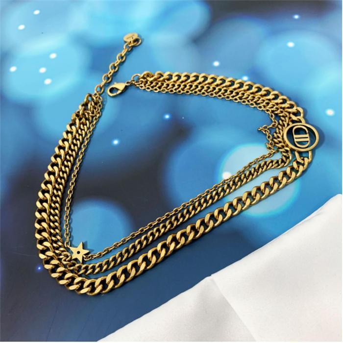 Pulseira clássica dupla camada Mulher de alta qualidade luz de luxo estilo all-match bracelet