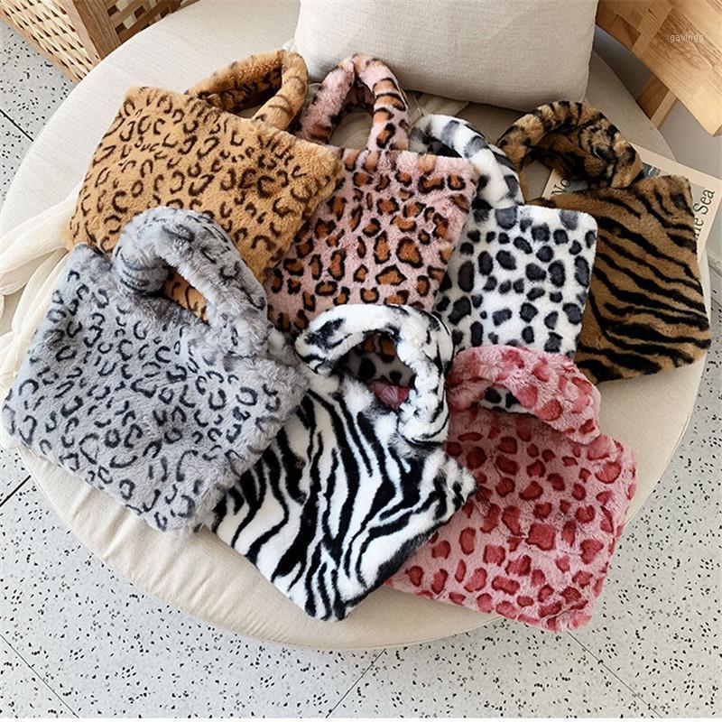 Kafvnie 새로운 패션 여성 어깨 가방 표범 여성 가방 체인 대형 플러시 겨울 핸드백 메신저 소프트 따뜻한 모피 1
