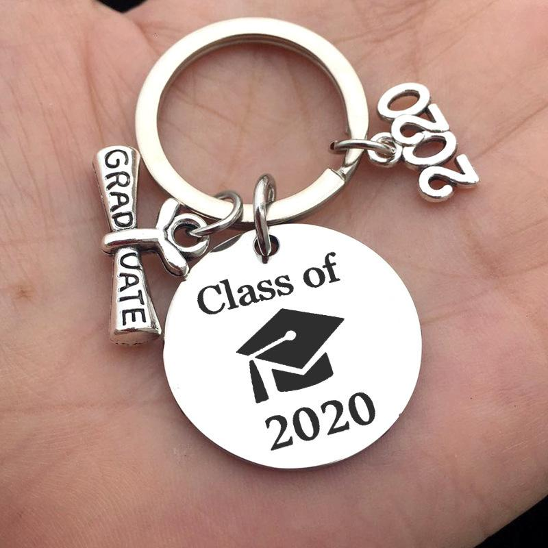 ist Klasse von 2020 Graduate Keychain Meine Geschichte, die gerade anfänglich aus Edelstahl Keychain Key Ringe Modeschmuck