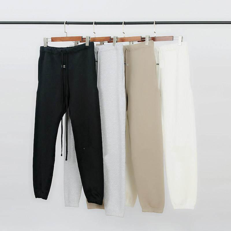 Mens Sweatpants Jogger Outono Inverno Reflexivo Bordado Calças Casuais Carta Calça de moletom Homens Mulheres Jogger Pants 4 Cor