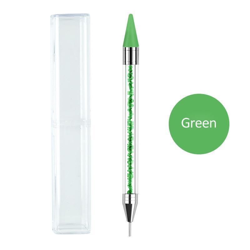 2020 Dual Ended Nagel Doting Stift Kristallperlen Griff Strass Stollen Picker Wachs Bleistift Maniküre Glitter Pulver Nail art Werkzeuge