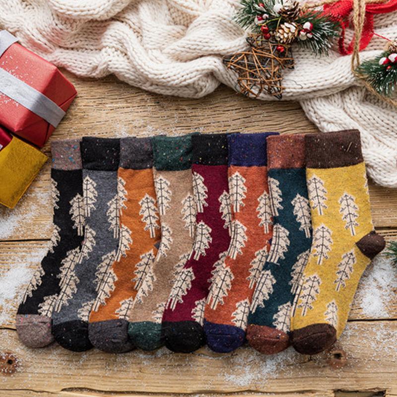 새로운 도착 면화 크리스마스 양말 여성 여자 부드러운 통기성 크리스마스 트리 양말 선물 파티 고품질