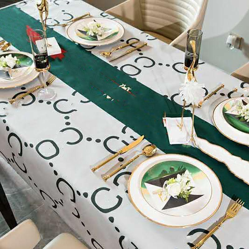 Luxurys Designers Tablecloth 3d Waterproof Table Cloth Rectangular For Dinner Home Kitchen Table Decorative Polyester Tea Table Cover