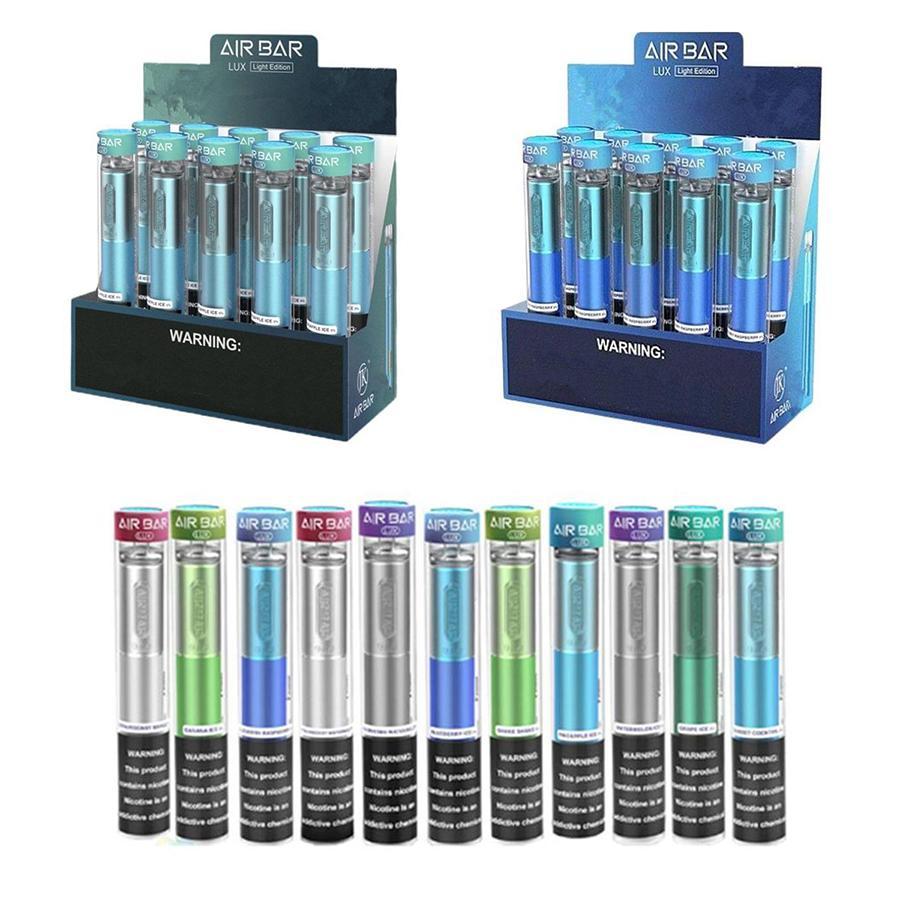 Hava Çubuğu Lux Tek Kullanımlık Vape Kalem E Sigara Cihazı ile 500mAh Pil 2.7ml Pods 1000Puffs Kiti vs Puff XXL