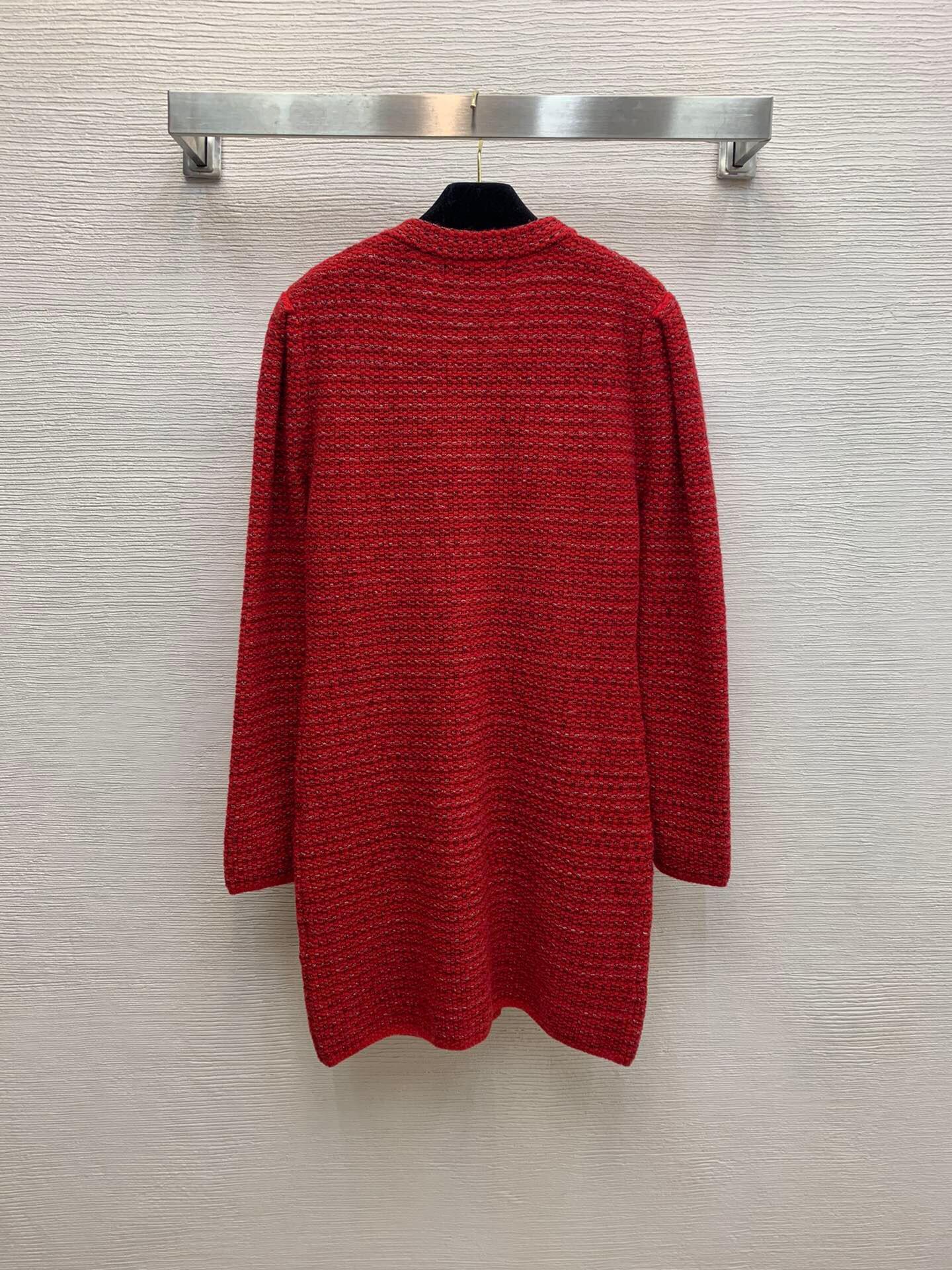 320 2021 Bahar Yaz Bir Çizgi Uzun Kollu Elbise Balo Moda V Boyun Flora Baskı Diz Yukarı Üstü Marka Aynı Stil Red Weini