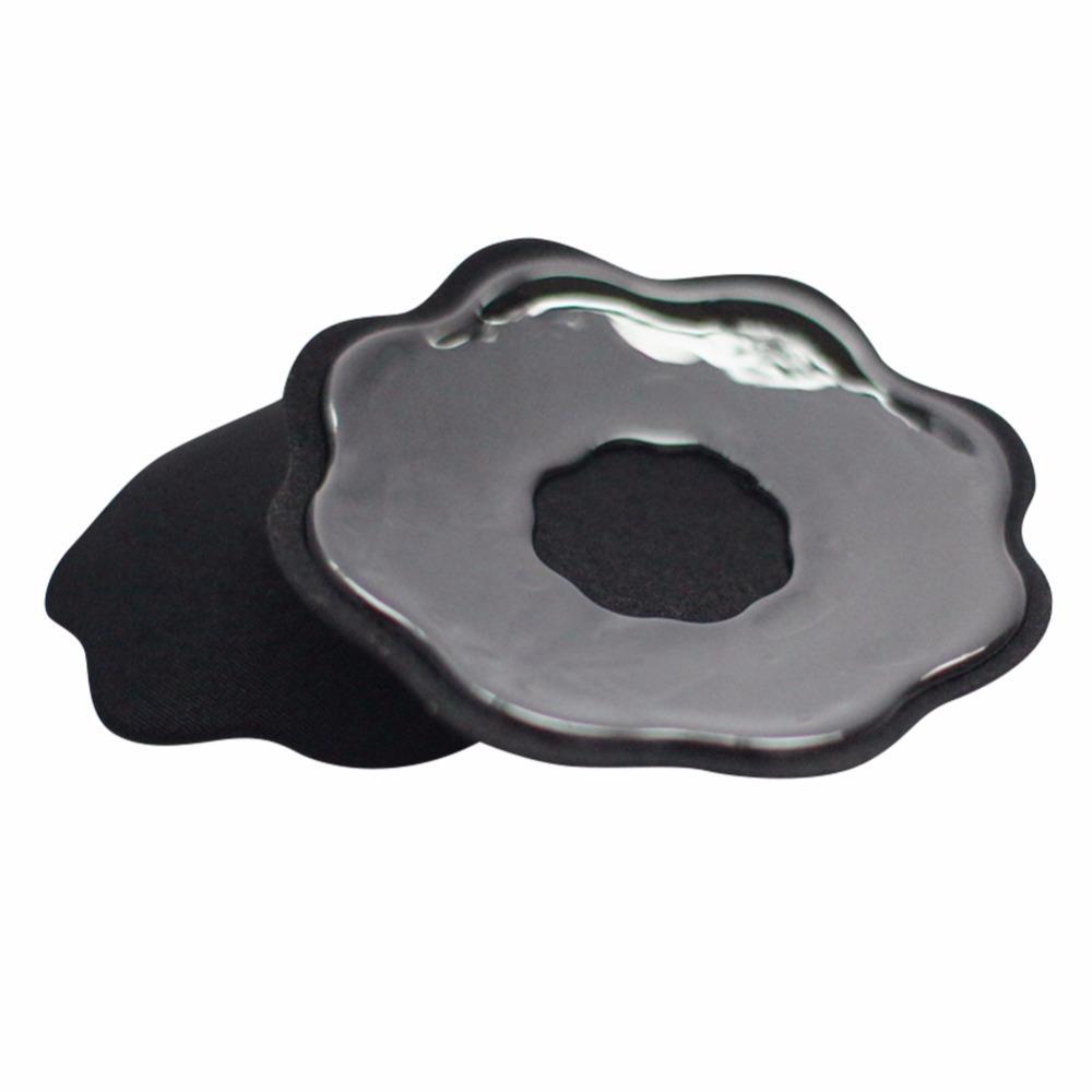 1PAIR = 2pcs Forma de pétalos Pasties Reutilizable Silicona Pecho Nipple Pasties Pads Cubiertas Cubiertas Sujetador Auto adhesivo