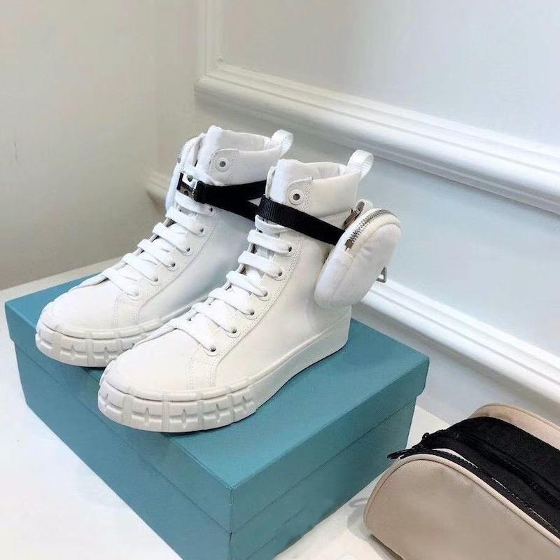 الرجال أحذية رياضية عجلة إعادة نايلون الأعلى أحذية رياضية المرأة القتالية أحذية مع حقيبة منصة أحذية رياضية في الهواء الطلق الدانتيل متابعة الاحذية مع صندوق 260