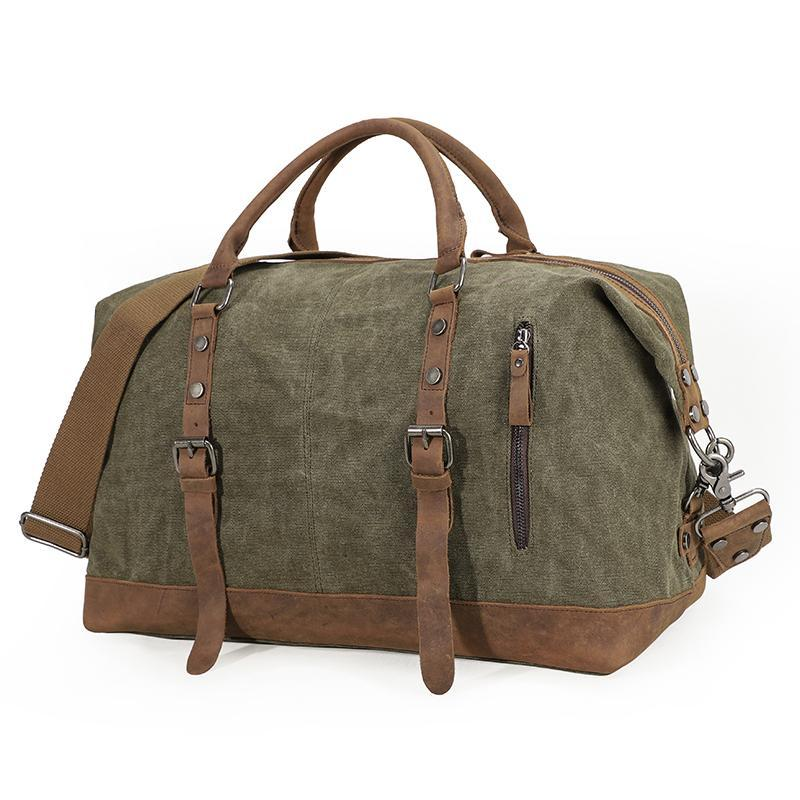 Borsa da viaggio per uomo leggera grande capacità da uomo borsa per bagagli per viaggiatore in tela borse da disegno in pelle borse weekend